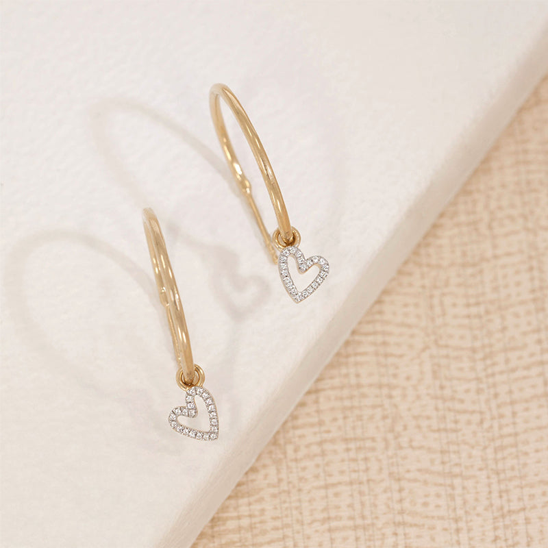 ELLA STEIN | Be Still My Heart Hoop Earrings