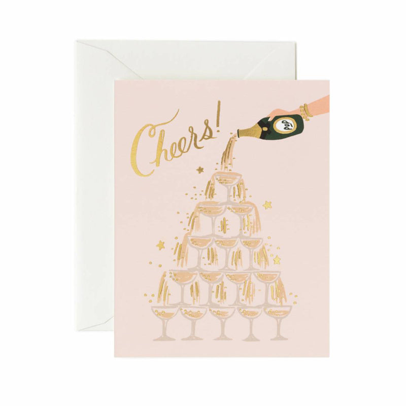 RIFLE PAPER CO. | Champagne Tower Cheers Congratulations Card