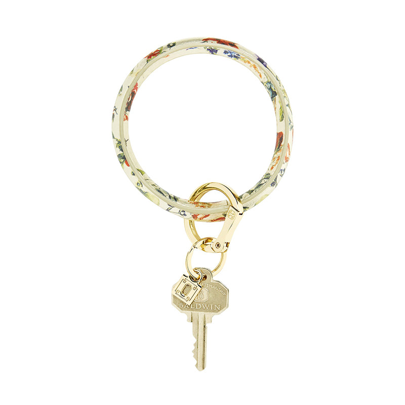 o-venture-big-o-key-ring-gold-rush-floral