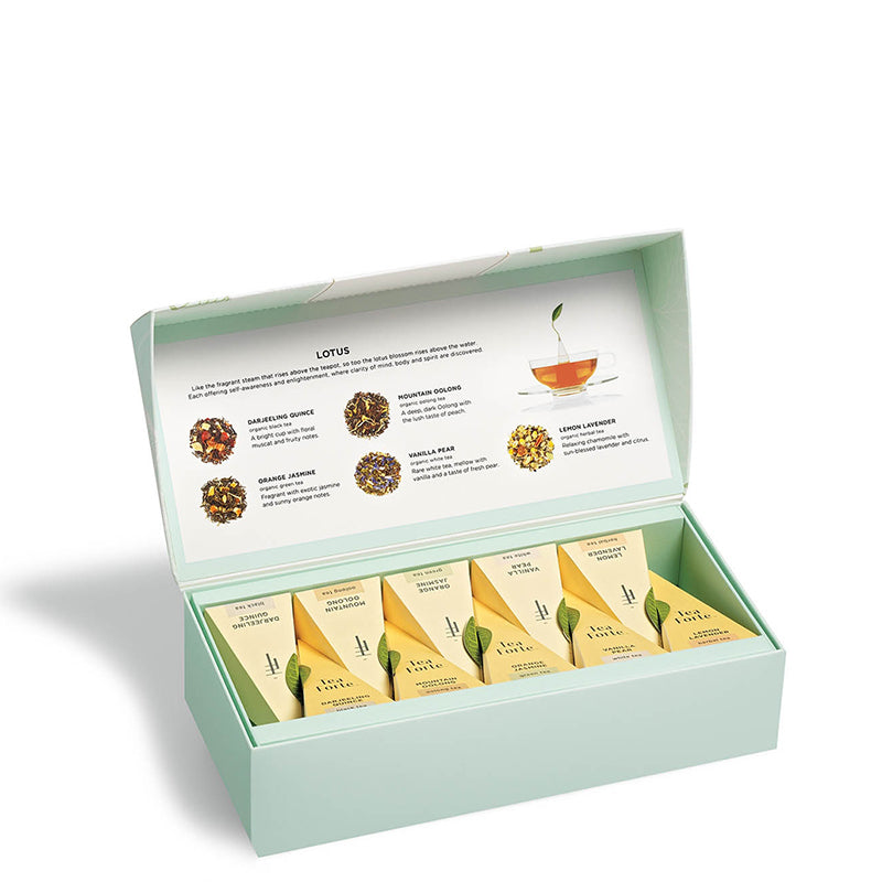 TEA FORTE | Petite Presentation Tea Box - Lotus