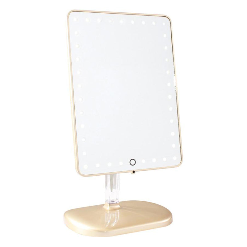 IMPRESSIONS VANITY | Touch Pro LED Makeup Mirror w/ Bluetooth - Gold