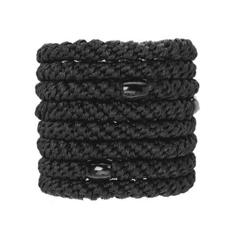 L. ERICKSON | Ponytail Holder Set of 8 - Black