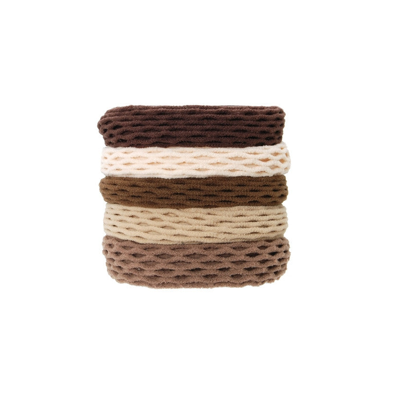 L. ERICKSON | Netted Sport Ponytail Holder Set of 5 - Driftwood
