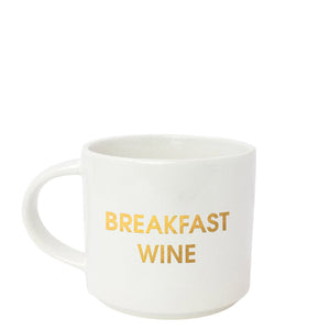 "CHEZ GAGNÉ | ""Breakfast Wine"" Metallic Gold Mug"
