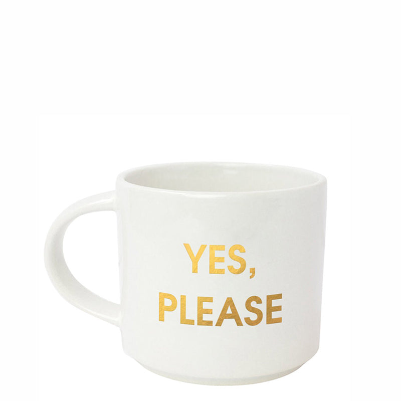 chez-gagne-yes-please-metallic-gold-mug
