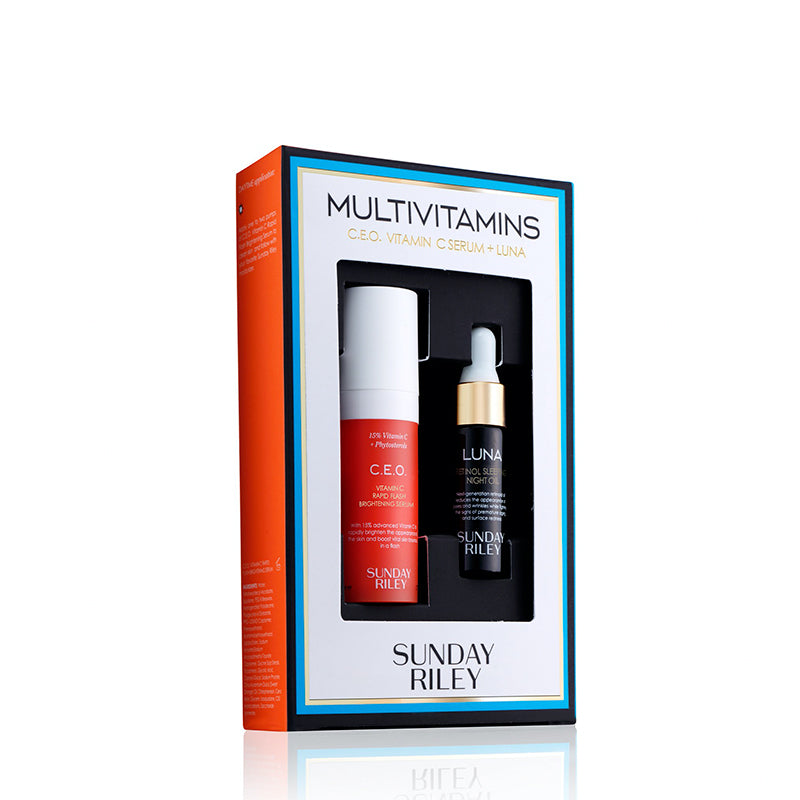 SUNDAY RILEY | Multivitamins Kit - C.E.O. Vitamin C Serum + Luna