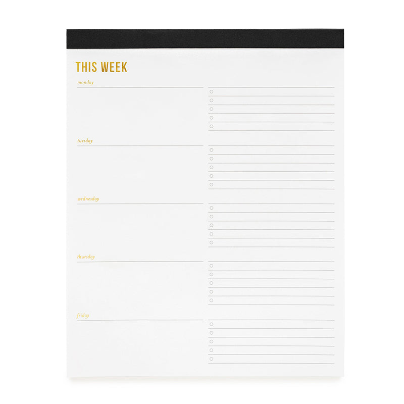 SUGAR PAPER | Weekly Pad Large - Black