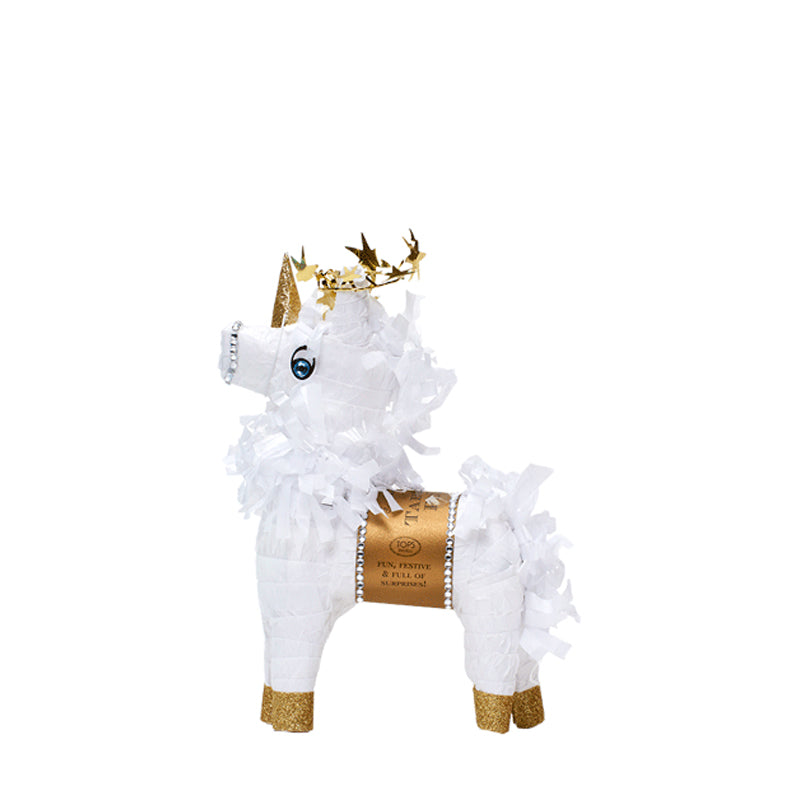 TOPS MALIBU |  Mini Tabletop Unicorn Piñata White