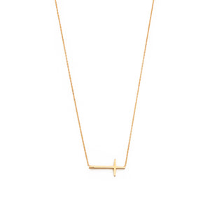 TAI RITTICHAI | Horizontal Gold Cross Necklace
