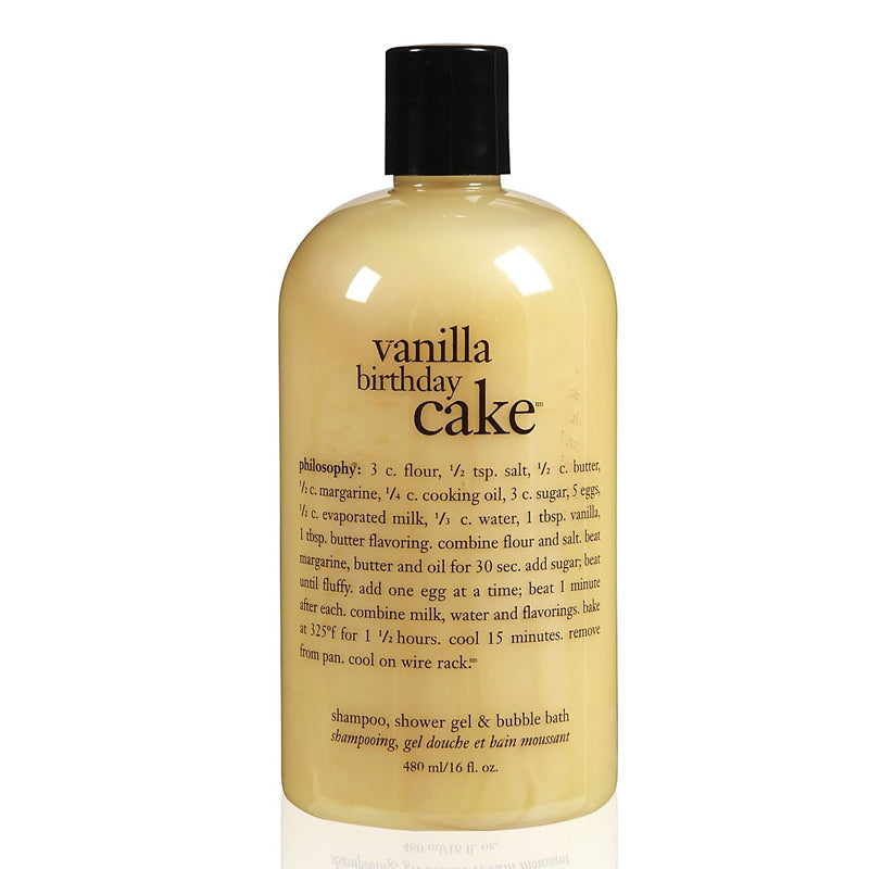 PHILOSOPHY | Vanilla Birthday Cake Shampoo, Shower Gel & Bubble Bath