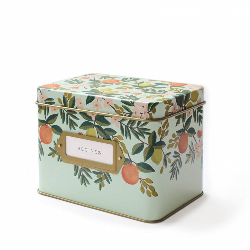 rifle-paper-co-citrus-floral-recipe-box