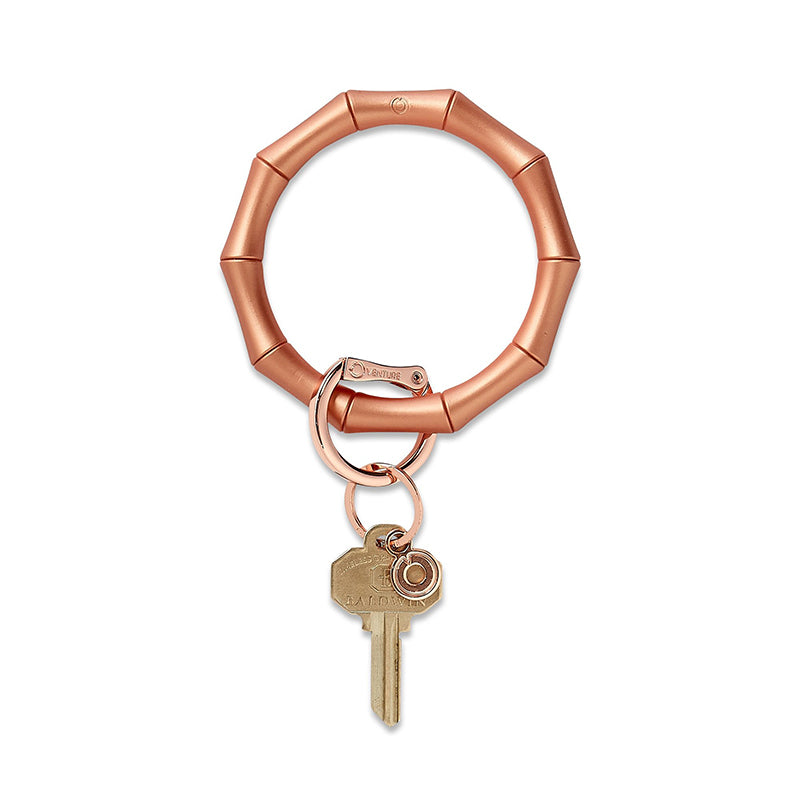 O-VENTURE | Big O Key Ring -  Rose Gold Bamboo