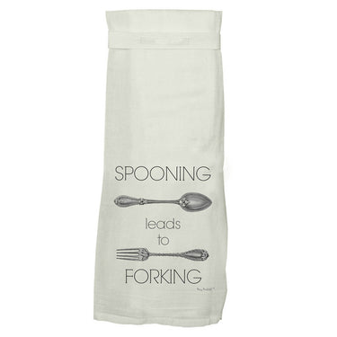 TWISTED WARES |  Spooning Leads to Forking Kitchen Tea Towel