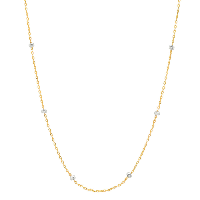TAI RITTICHAI | Gold Chain with Silver Beads Necklace