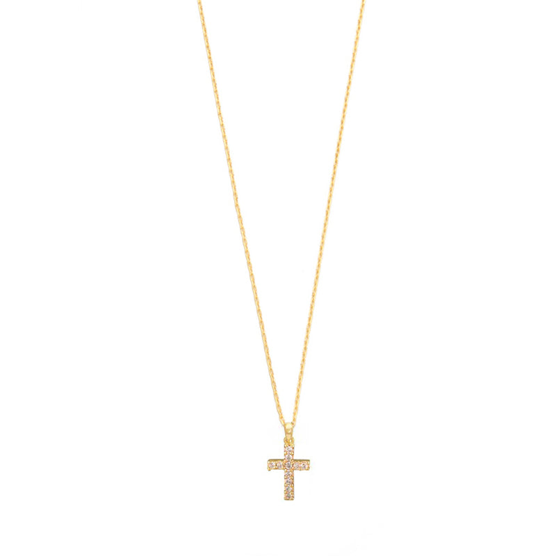 TAI RITTICHAI | Pave Cross Necklace