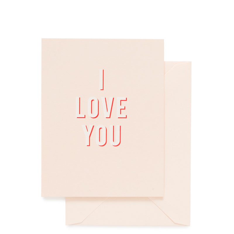 SUGAR PAPER | I Love You Bold Card
