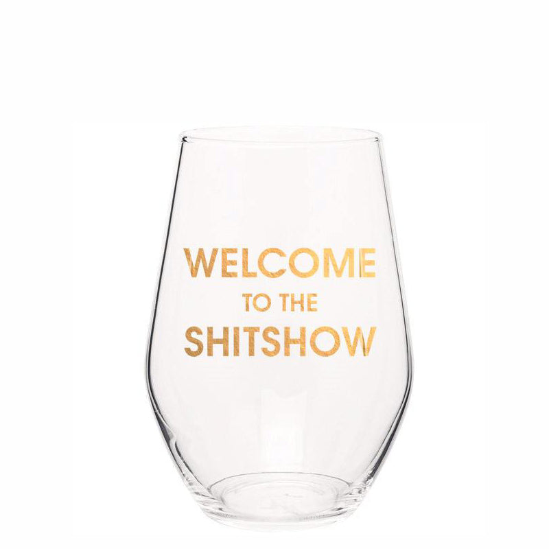 chez-gagne-welcome-to-the-shitshow-stemless-wine-glass