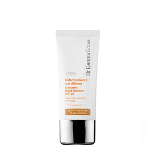 DR DENNIS GROSS | Instant Radiance Sun Defense Sunscreen Broad Spectrum SPF 40