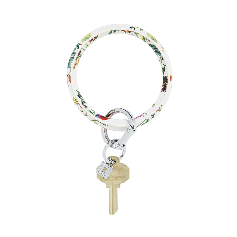 o-venture-big-o-key-ring-white-floral