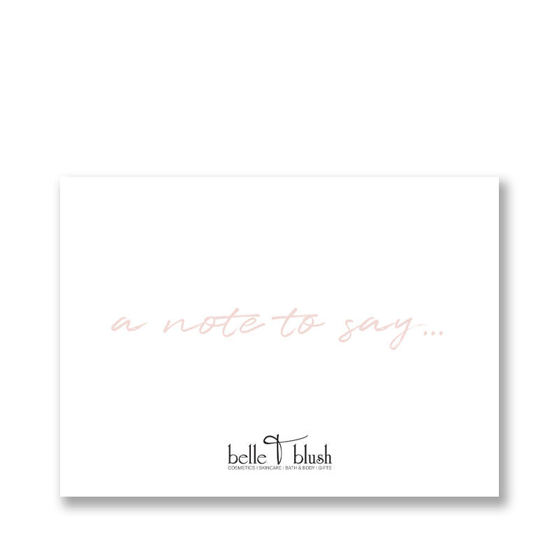 Belle & Blush Generic Card with Blush Text