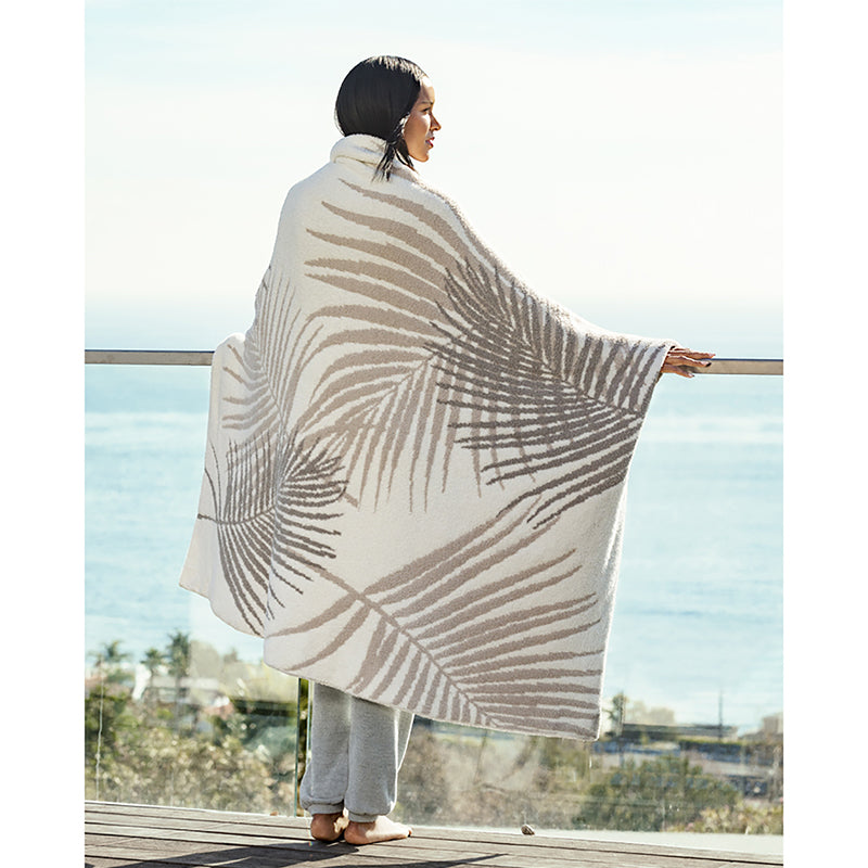 BAREFOOT DREAMS | Cozy Chic Palm Leaf Blanket