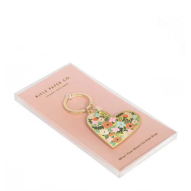 rifle-paper-co-floral-heart-enamel-keychain