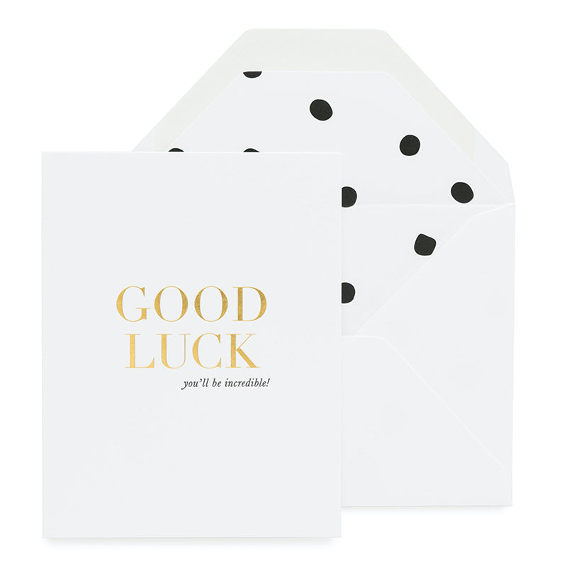 SUGAR PAPER | Good Luck Card