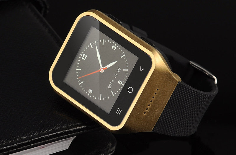 ZGPAX S8 Android 4.4 Smartwatch Phone - 1.54 Inch Display, Dual Core CPU, 4GB Internal Memory, 2 Megapixel Camera, 3G (Golden) 2