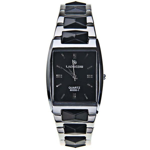 LaoGeShi Quartz Watches with Strips Indicate Rectangle Watch Band