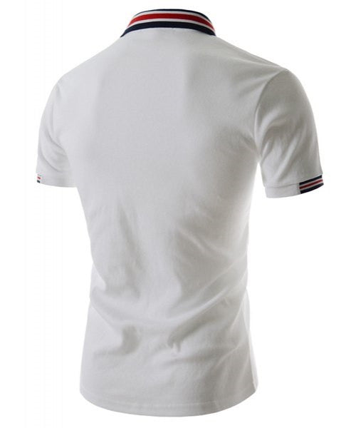Short Sleeves Men's Polo T-Shirt from back