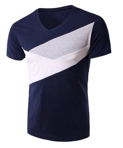 Navy Slimming T-Shirt For Men with Short Sleeves