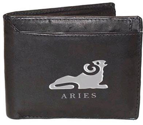 Aries Zodiac Sign Leather Wallets
