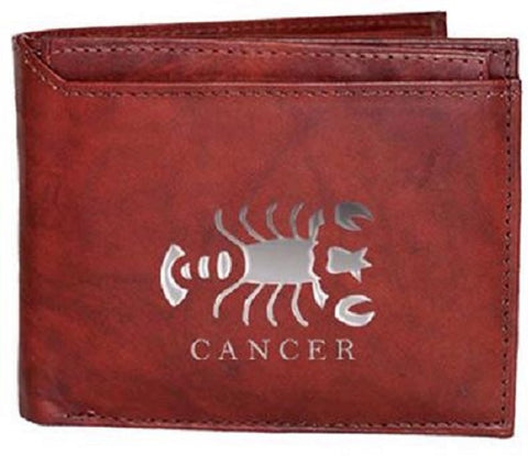 Cancer Zodiac Sign Leather Wallets