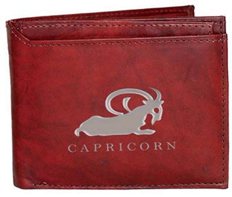 Capricorn Zodiac Sign Leather Wallets