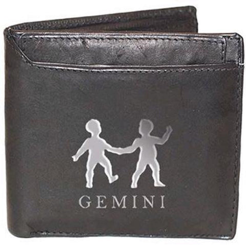 Gemini Zodiac Sign Leather Wallets
