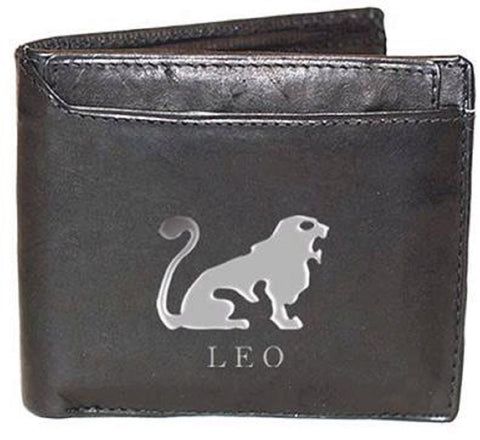 Leo Zodiac Sign Leather Wallets