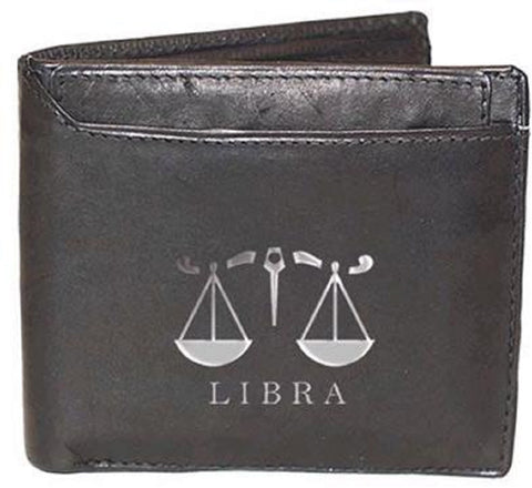 Libra Zodiac Sign Leather Wallets