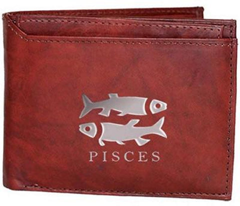 Pisces Zodiac Sign Leather Wallets