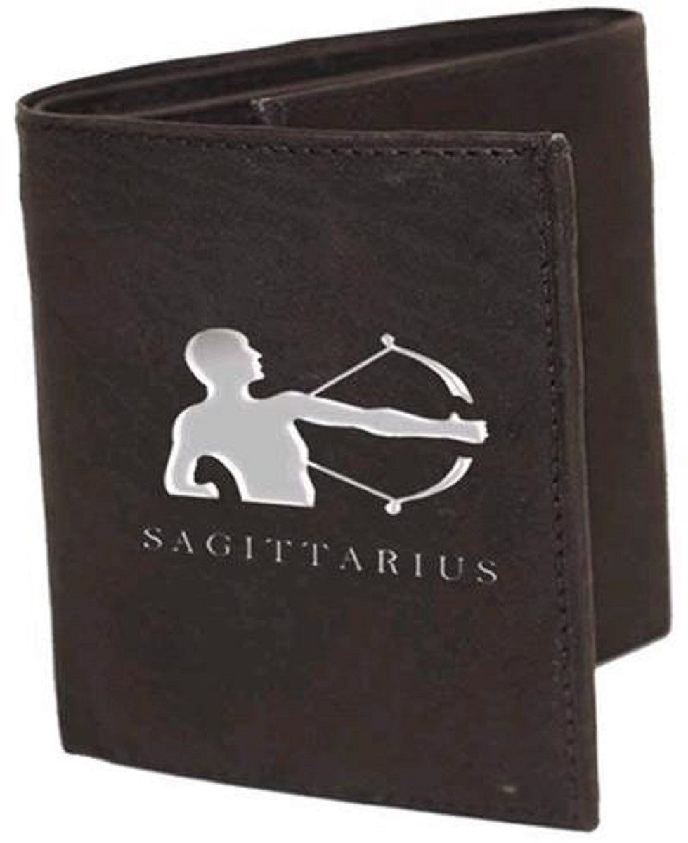 Sagittarius Zodiac Sign Leather Wallets
