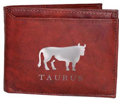 Taurus Zodiac Sign Leather Wallets