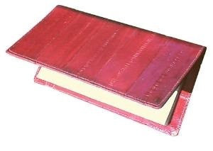 Eel Skin Leather Checkbook cover