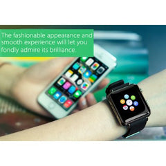Black Bluetooth Smart Watch Phone with Call Answer