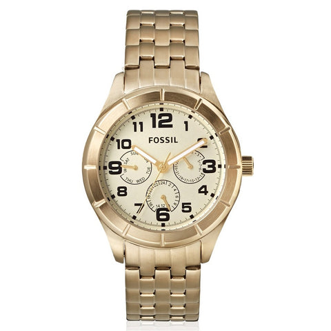 Gold Tone Men's Watch Fossil Stainless Steel Chronograph