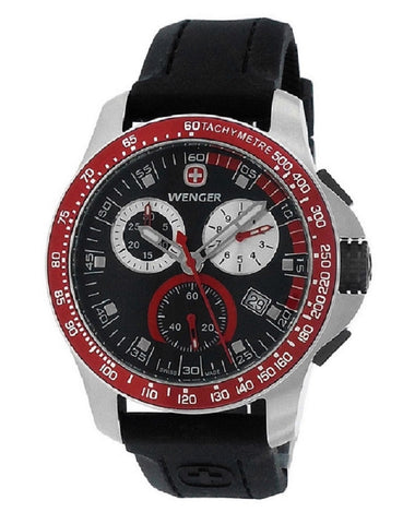 WENGER Battalion Field Chrono Red and Black Rubber watch