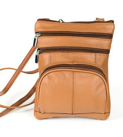 Leather Tan Cross-Body Bag