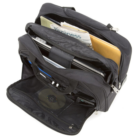 Mobile Office Laptop Briefcase Rolling Laptop Case Inside
