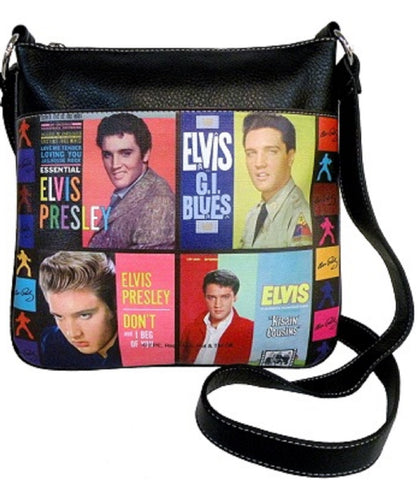 Licensed Elvis Presley Colorful  Messenger Bag