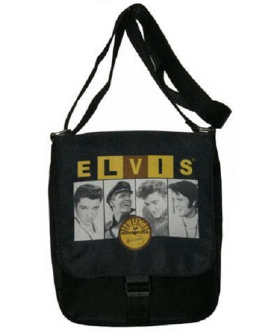 Celebrity Print Handbag Messenger Bag Elvis Presley & Sun