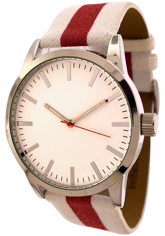 FMD White Canvas Band Watch by Fossil