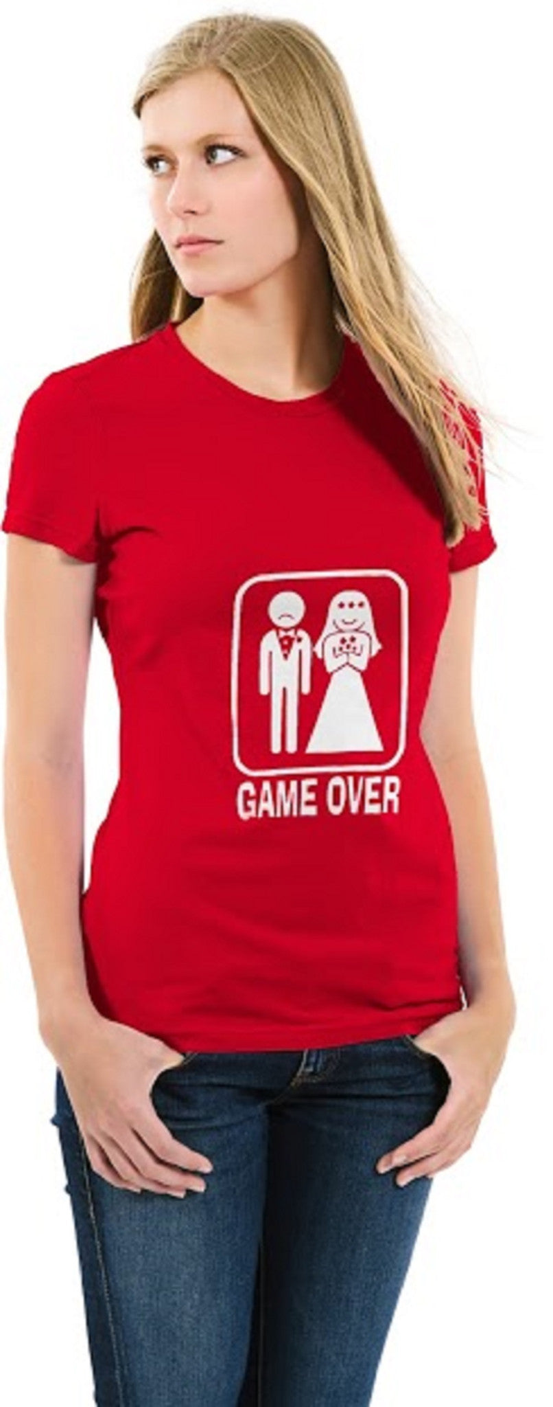 Game Over Ladies T-shirt Red
